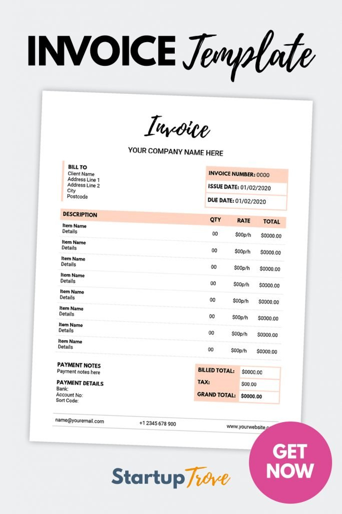 Get Invoice Template Printable by clicking here.